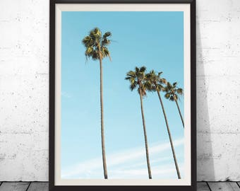 Palm Tree Wall Art, Palm Tree Decor, Tropical Wall Art, Printable Wall Art