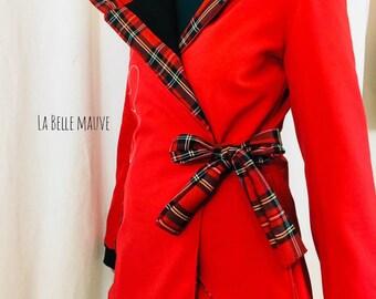 Waterproof fairy coat red