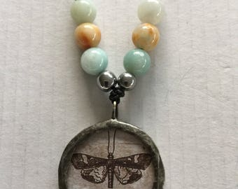 Butterfly (moth) necklace