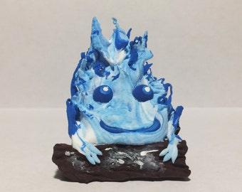 Blue Calcifer, Calcifer Fire Demon from Howl's MovingCastle, HowlsMovingCastle Calcifer, Fire Demon, Miyazaki Calcifer, Calcifer