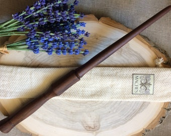 Rosewood Wand, Magic Wand, Wizard Wand, Wiccan Wand, Wooden Wand, Wood Wand