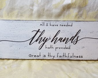 Great is thy faithfulness  sign