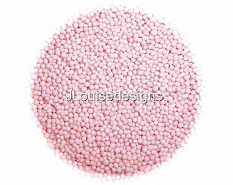 Pastel Pink Nonpareils, Edible Sprinkles Cakepops Cupcake CandyConfetti Decorations 2oz.