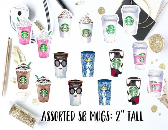 Starbucks coffee mugs die cut stickers coffee cups decals starbucks coffee planner stickers starbucks coffee decals coffee stickers from