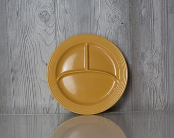 10 inch Yellow Fiesta Ware Divided Plate