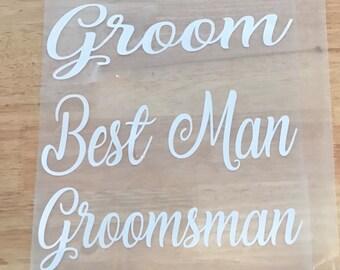 DIY groom groomsmen best man iron on