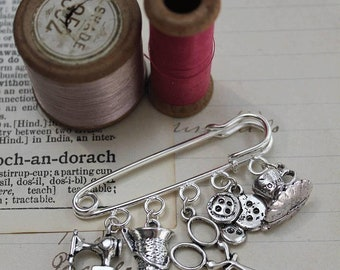 Sewing Pin Brooch - Gifts for Her - Sewing Gifts - Vintage Style Brooch - Gift for Teacher - Gift for Sewer - Gift for Seamstress