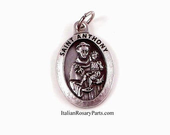 Saint Anthony with Baby Jesus Medal | Italian Rosary Parts