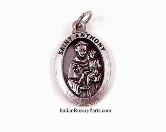 Saint Antoine avec bébé Jésus médaille | Rosaire italien parties