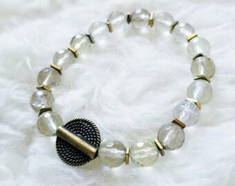 Citrine Bracelet, Stretch Bracelet, November Birthstone, Handmade Gemstone Jewelry, Gemstone Bracelet, Handmade Jewelry, Gemstone Jewelry