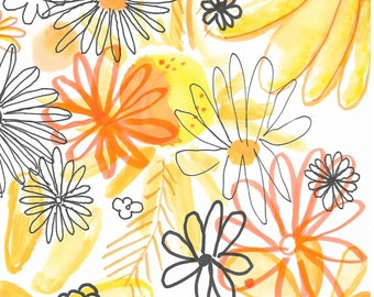 Daisies Floral Print