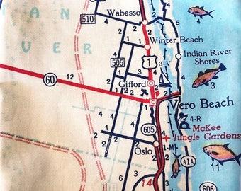 Vero Beach Map Tote - Vero Beach Map Bag - Vero Beach Tote Bag - Vero Beach Bag - Vero Beach Tote - Wanderlust Tote - Gift for Traveler