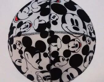 Mickey Mouse Faces Saucer Kippah Yarmulke Black and White