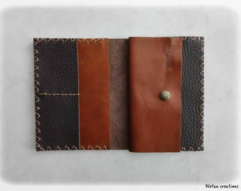 Wallet Leather Brown and chocolate - man wallet