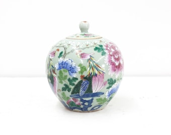 Chinese Famille Rose Ginger Jar with Original Lid