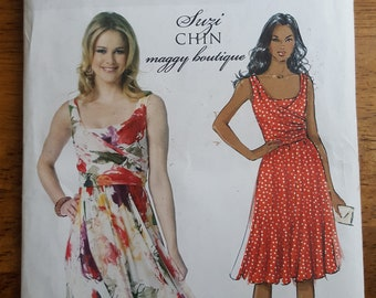 Butterick B5750 Suzi Chin Maggy Boutique Summer Dress Sewing Pattern Misses' Size 6-14
