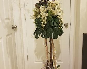 White Birch Flower Arrangement