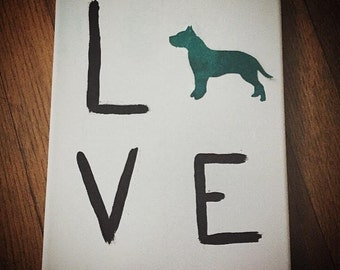 LOVE pet canvas