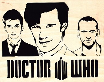 Three Doctors Wood Portrait