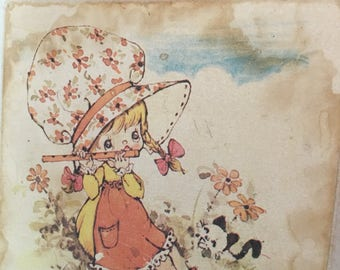 Kitschy Picture - Kitschy Home Decor - Kitschy Little Girl - Vintage