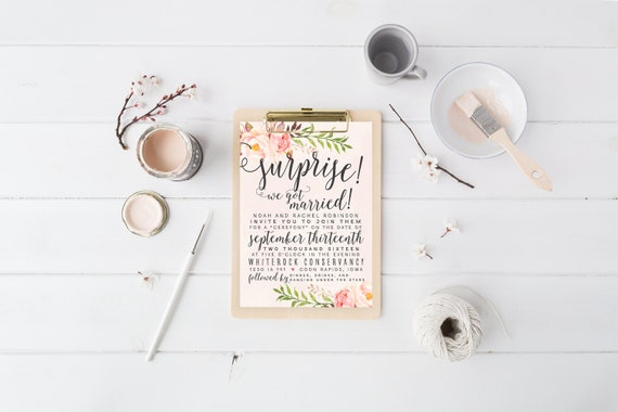 Watercolor Wedding Invitation Suite DEPOSIT DIY Rustic Boho