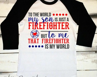 Firefighter Mom Shirt, Firefighter Tshirt, Proud Mom Shirts, I Love My Firefighter, Fire Mom, Maltese Cross, I Raised a Hero, Fireman Shirt