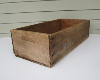 Large Old Wood Box Crate