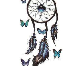 3pc butterfly print temporary tattoo sticker-10511x3