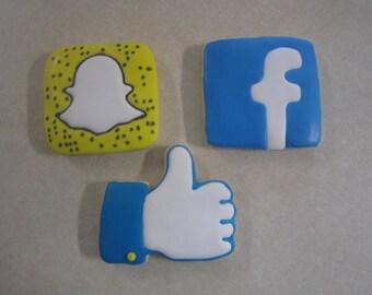 12 Social Media Fan Art Cookie