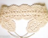 "Crocheted headband ""Elegance"""