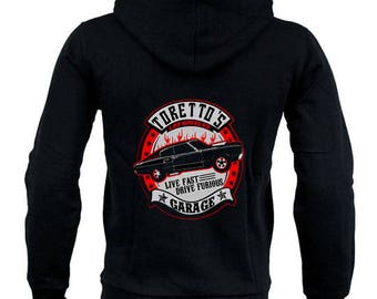 Sudadera Hoodie FAST AND FURIOUS, torettos garage different sizes diferentes tallas sweatshirt