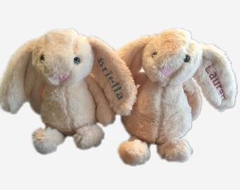 Customized Plush Bunny Rabbit Name Boy Girl Embroidered