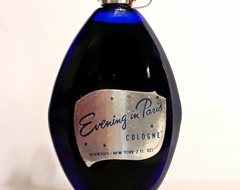 Vintage 1960s Evening in Paris by Bourjois 2 oz Eau de Cologne Splash PERFUME