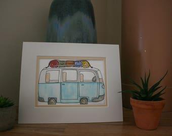 Watercolor Road Trip