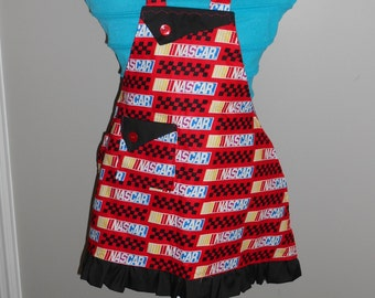 Red Nascar Girl's Apron