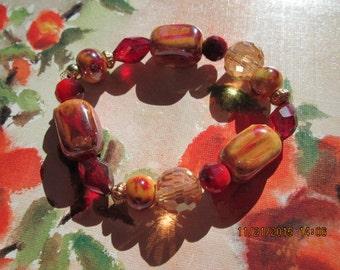 156  designer orange beaded handmade bracelet