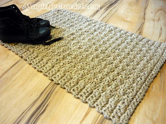 Fußmatte Jute Teppich Fußmatte häkeln willkommen Teppich