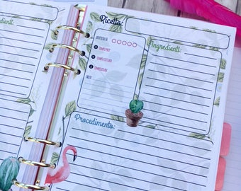 Refill recipes-instant pdf-for A5 diaries (filofax, kikkik, webster's)