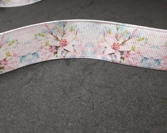 -Floral - romantic Lily - Grosgrain Ribbon 25mm