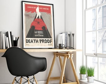 death proof, film poster, tarantino poster movies, alternative film poster, rosario dawson poster, poster kurt russell, poster death proof.