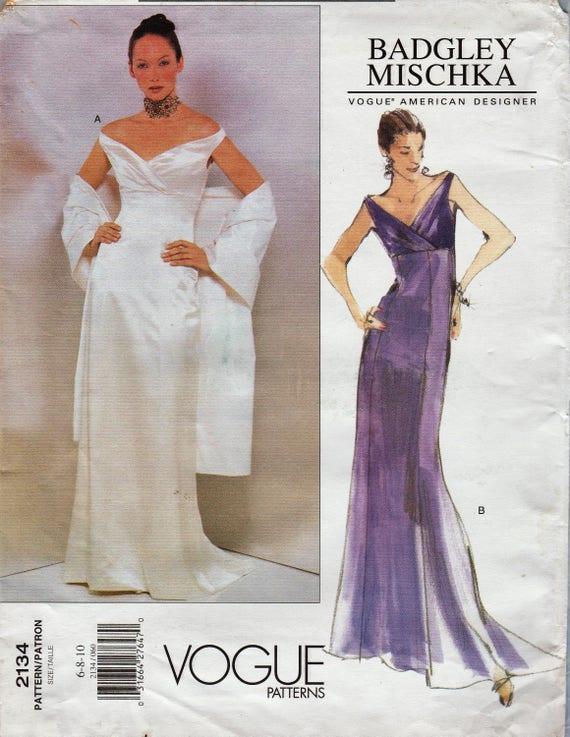 Vogue Designer Sewing Pattern 2134 / Designed By Badgley Mischka ...