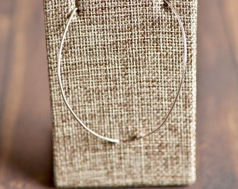 Curved Argentium Sterling Silver Earrings
