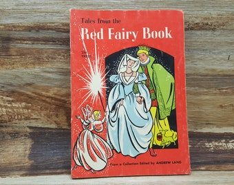 Tales from The Red Fairy Book, 1960, Andrew Lang, vintage kids book