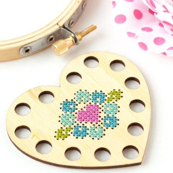 Clearance Heart Thread Holder Diy Kit Embroidery Floss Organizer
