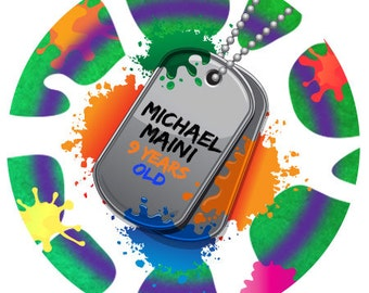 Personalized Stickers Paint Ball , Color War Printable Personalized Custom Labels,