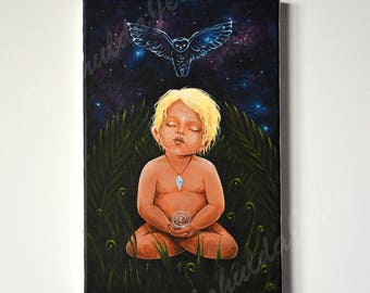 Spirit Guide Paint on canvas one of a kind
