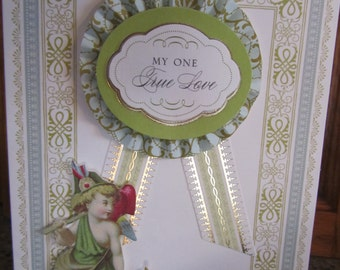 Anna Griffin Card  / My one True Love
