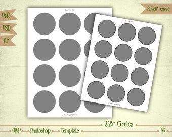 """2.25"""" Cupcake Toppers - Digital Collage Sheet Layered Template - (T056)"""