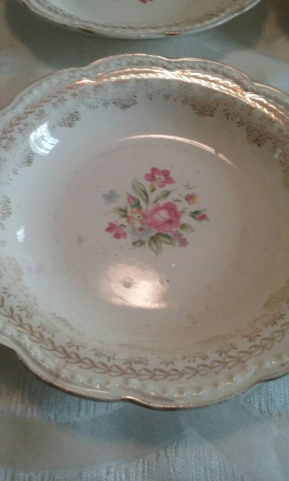 Vintage Stetson China/American Beauty/22kt Gold/Antique