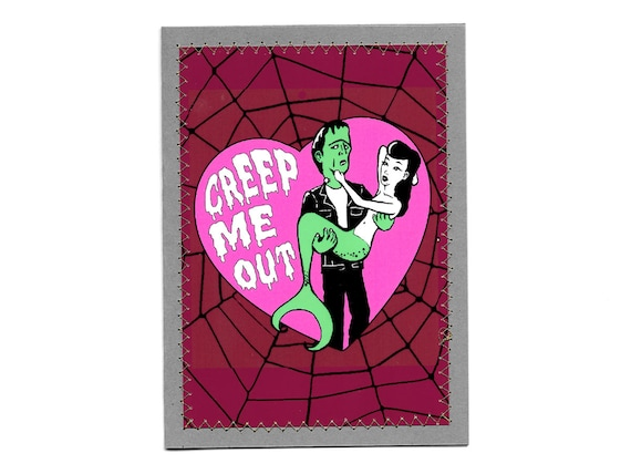 CREEP ME OUT Notecard (blank inside) with Metallic Envelope